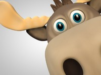 c4d moose cartoon