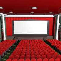 cartoon movie theatre 3d max