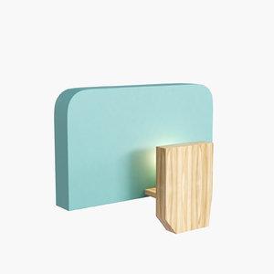 3d za-za lamp model