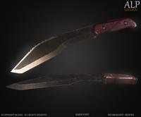 kukri knife fbx free