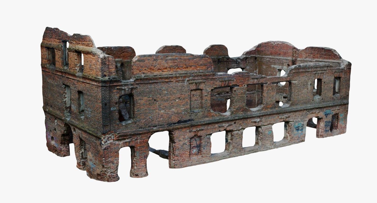 3d old ruins model
