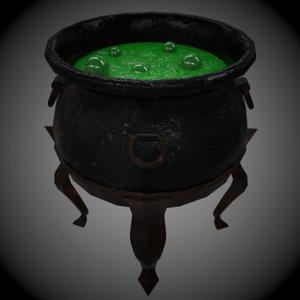 3d witch cauldron model
