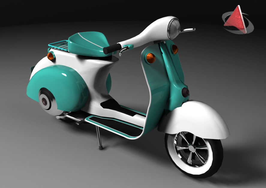 3d model of motorcycle costom