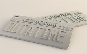 3d delorean plate future