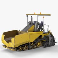 3d model asphalt paver ap655d