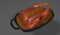 roasted pheasant 3d model