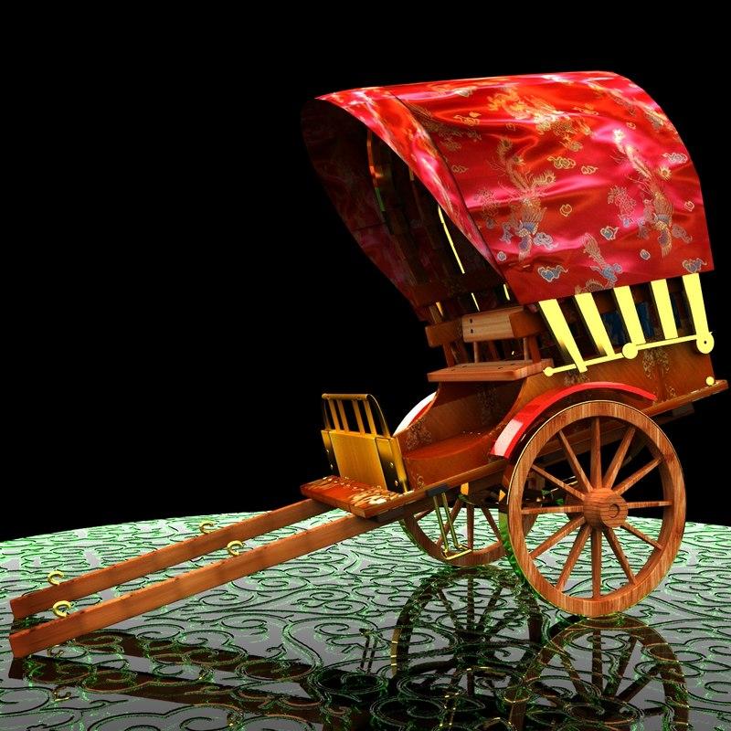 3d model rickshaw ricksha