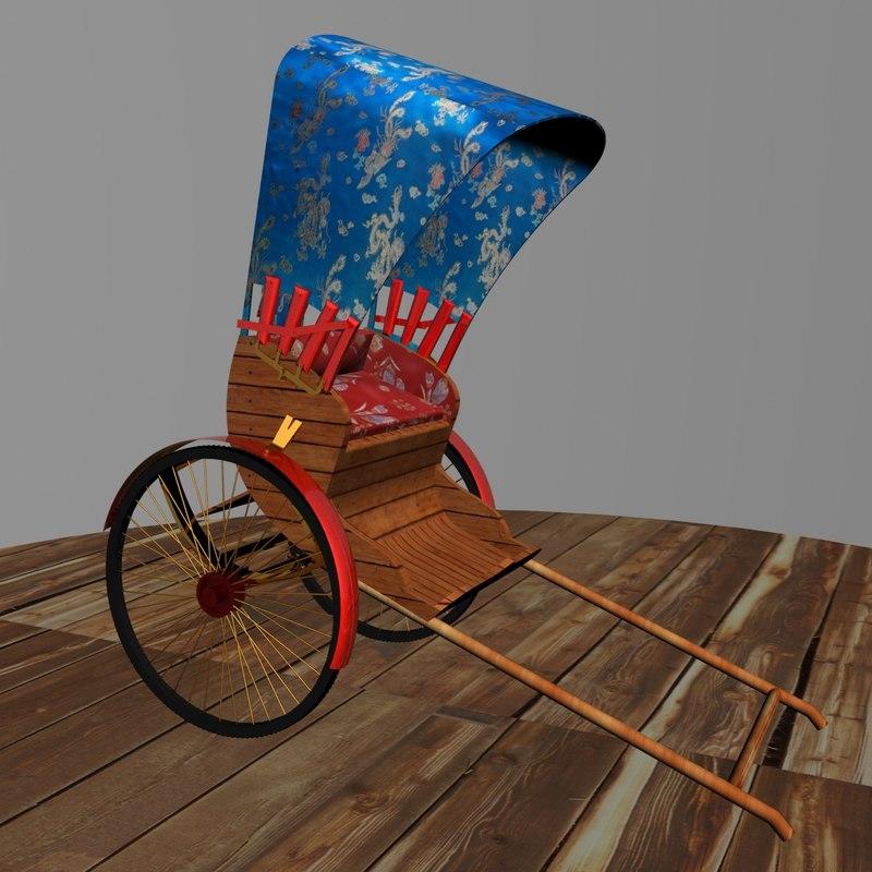 max hand pull rickshaw