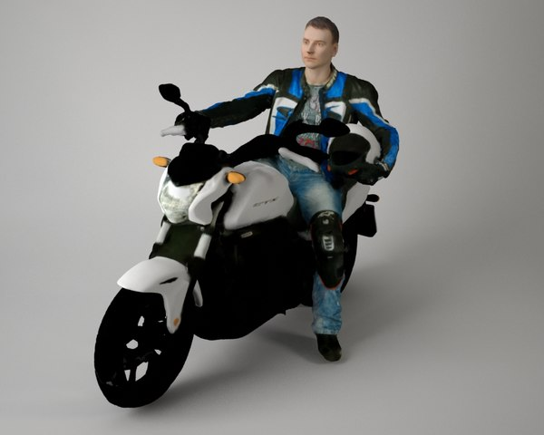 scan biker 3d model