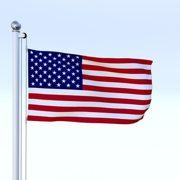 flag pole 3d blend