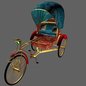 rickshaw 3d max