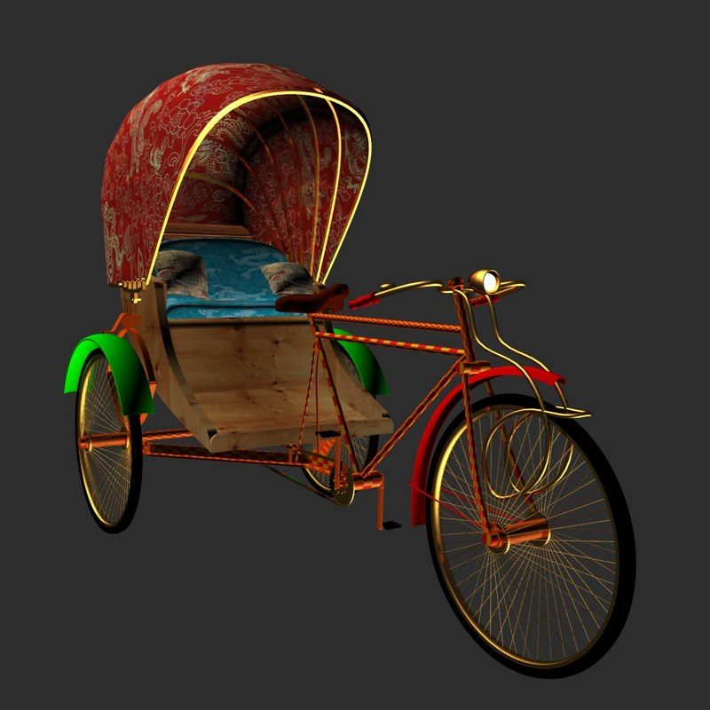 3d rickshaw model