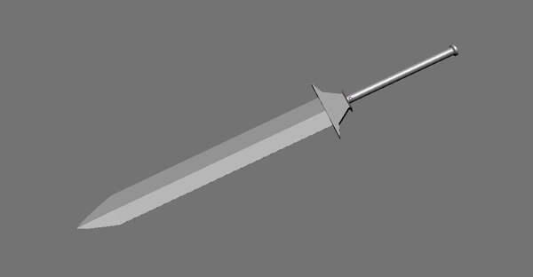 3d model simple broad sword