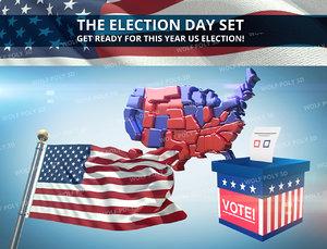 3d election set model