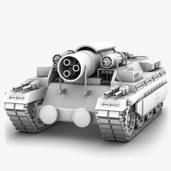 3d model tank concept