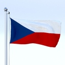 Czech Republic flag 3D models