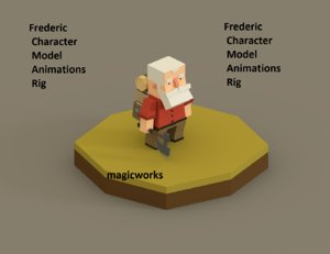 3d character frederic model