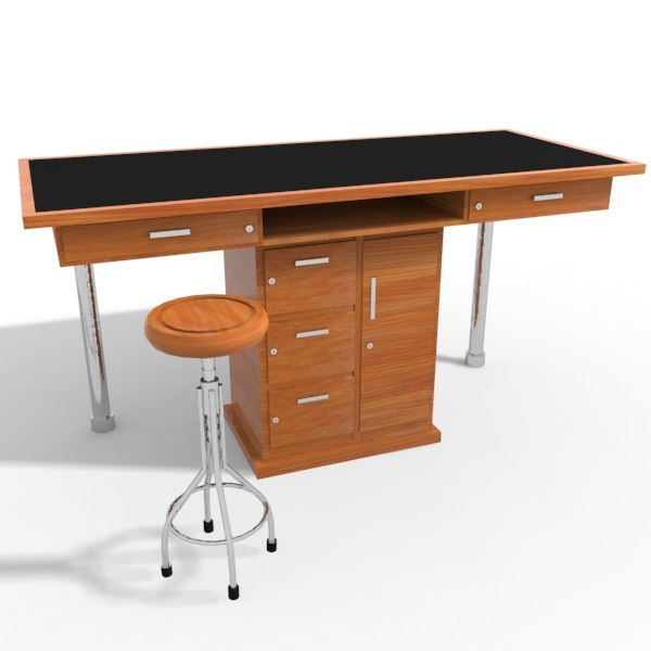 3d model lab table
