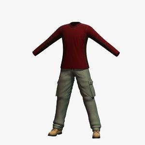 3d model mens clothing 6