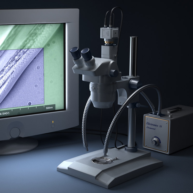 electronic microscope 3d max