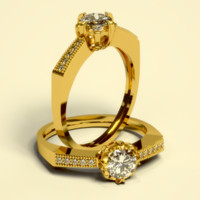 3d cnc diamond gold model
