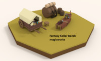 fantastic seller bench 3d fbx