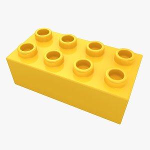 3d realistic lego brick 2