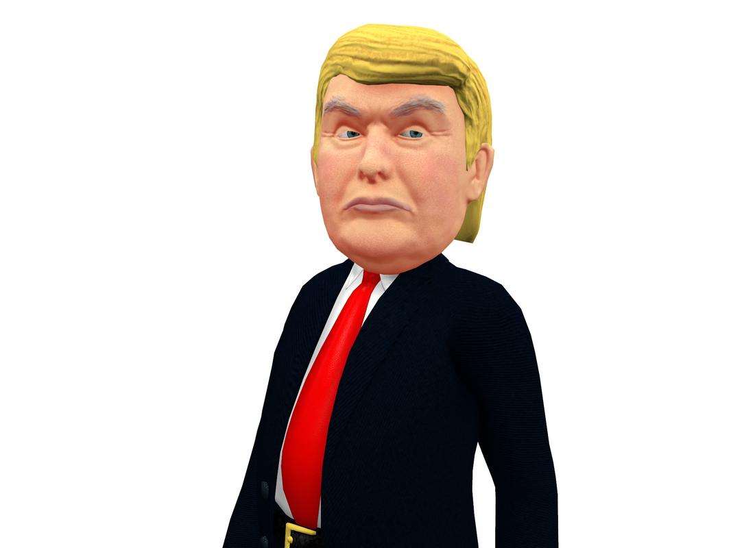 3d model caricature trump