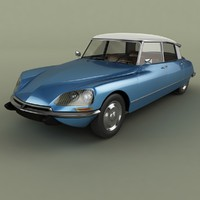 3d 1969 citroen ds 21 model