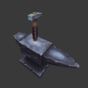 3d hammer anvil