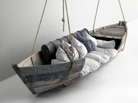 3d hanging boat sofa model