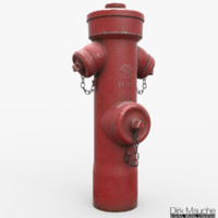 hydrant pbr 3d obj