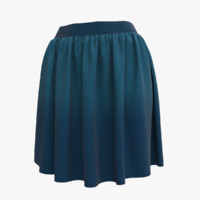 Skirt Blue High Poly 01
