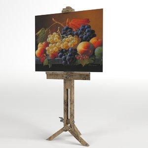 3d drawing canvas tripod model