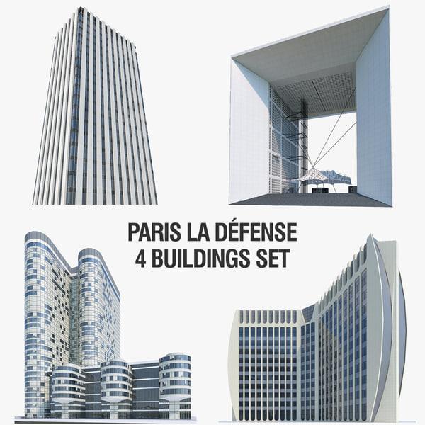 la buildings 3d model