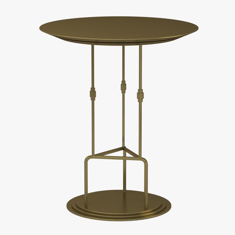 3d bausman bar table