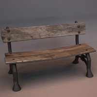 old cast iron bench