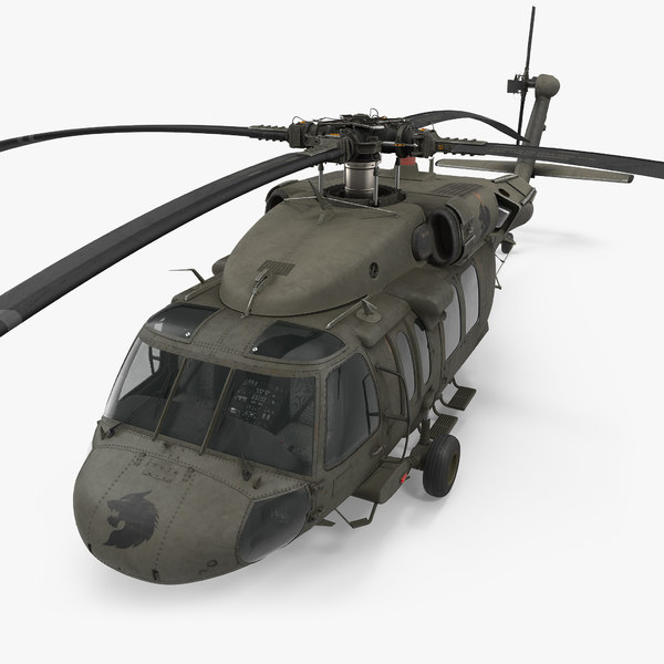 3d model sikorsky uh-60 black hawk