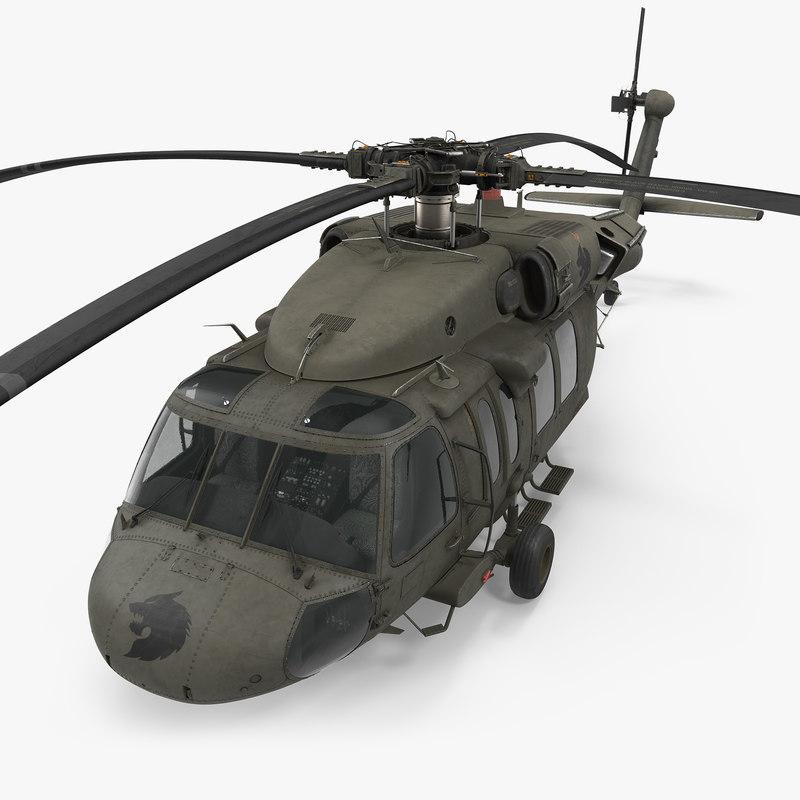 3d model sikorsky uh-60 black hawk