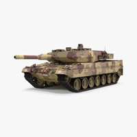 3d model of german battle tank leopard