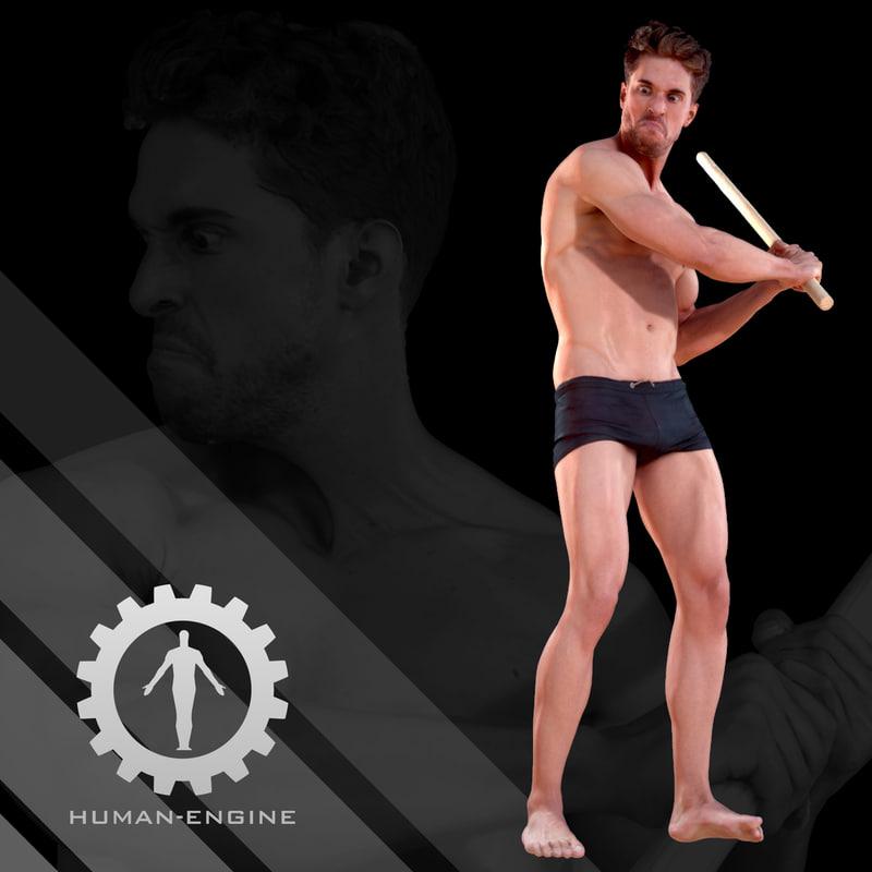 male scan - mick 3d model