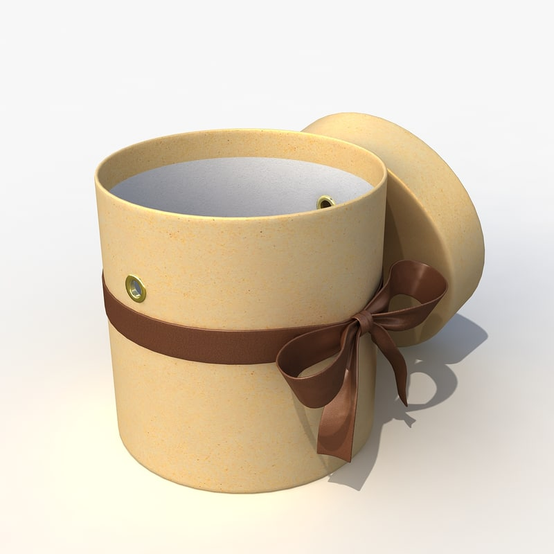 cardboard gift box 3d model