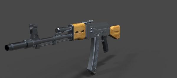 ak assault rifle 3d model