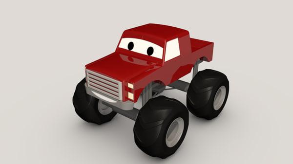 3d model monster truck 1