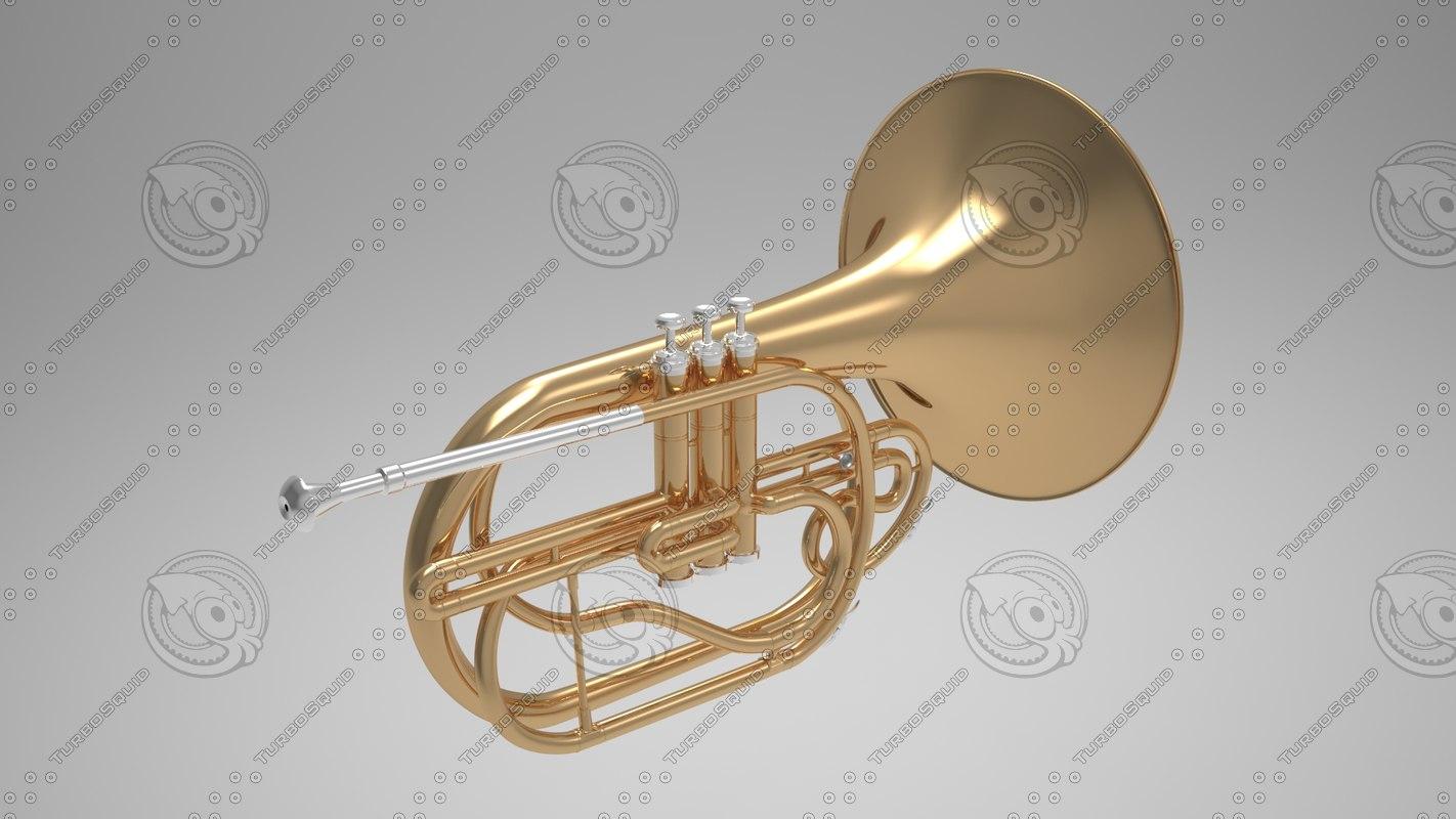 3d model tuba musical instrument