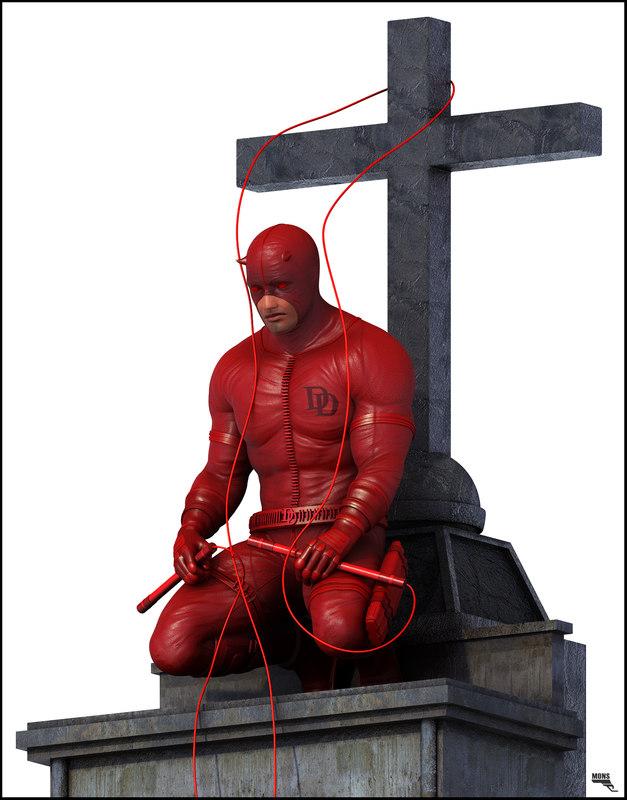 3d model of daredevil devil