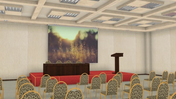 3d model of large room public meetings