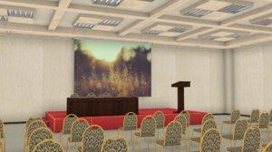3d model of large room public meetings