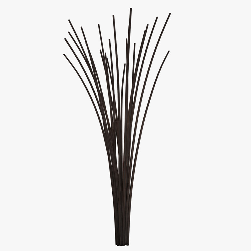obj decorative sticks vase