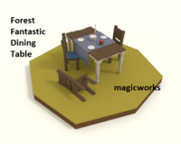 3d forest fantastic dining table model